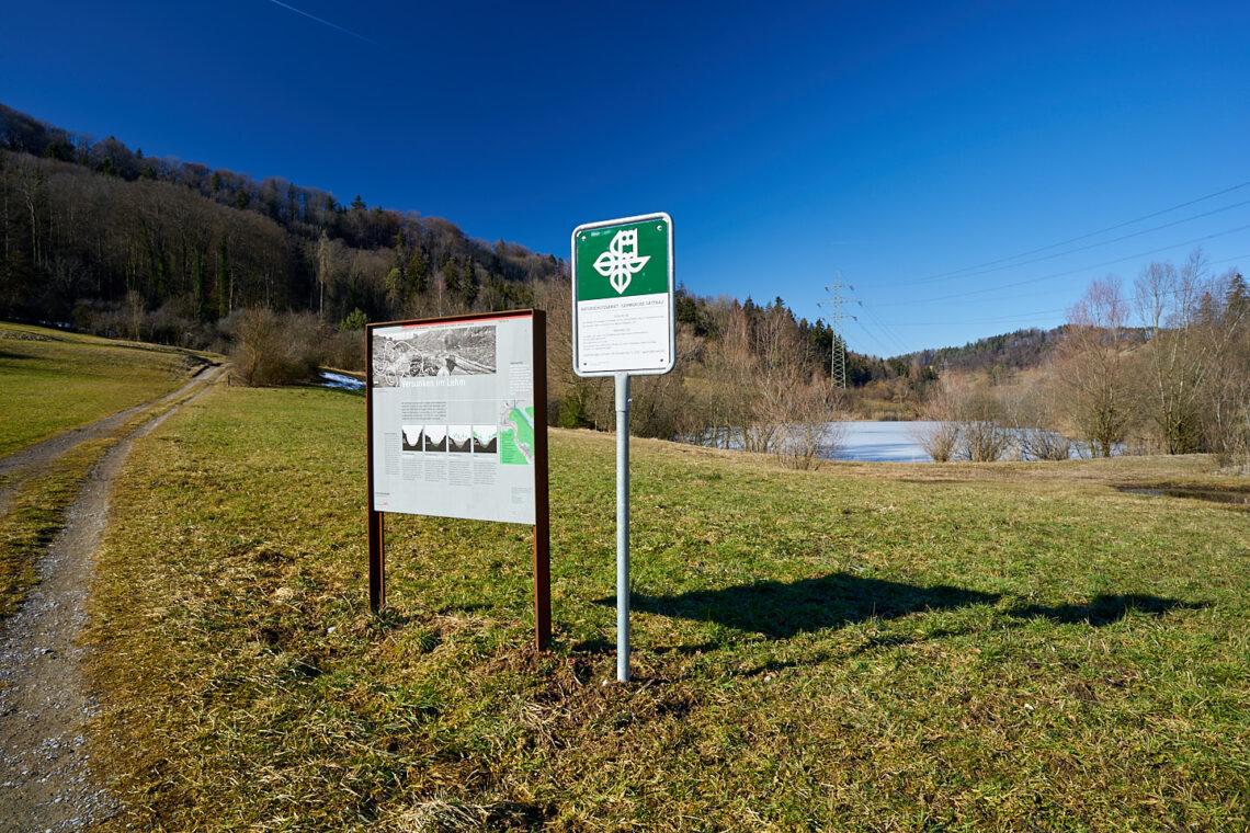 Naturweg Dättnau-Wülflingen: Tafel am Dättnauer Weiher