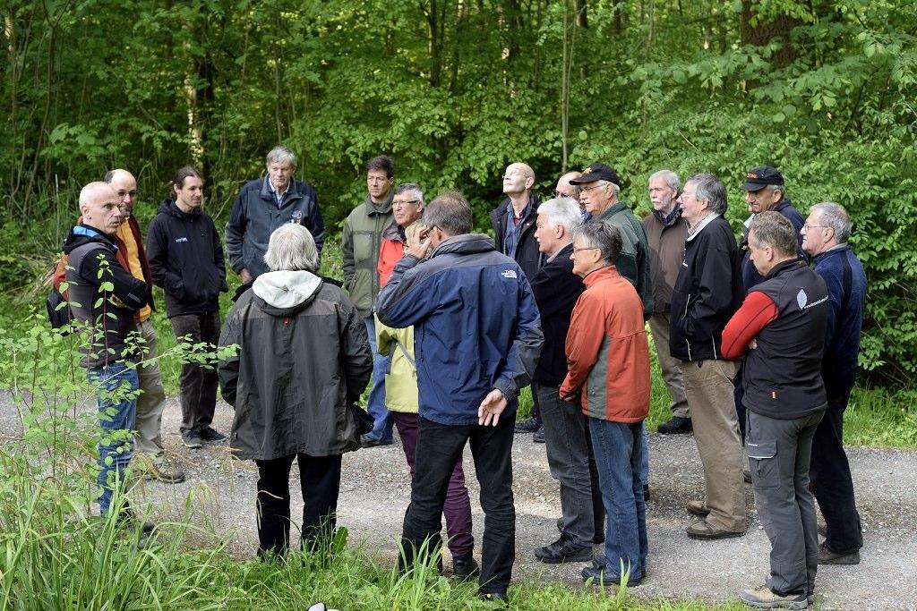 Gruppe des Privatwaldkurses 2014: Diskussion waldbaulicher Strategien vor dem Hintergrund der Klimaerwärmung.