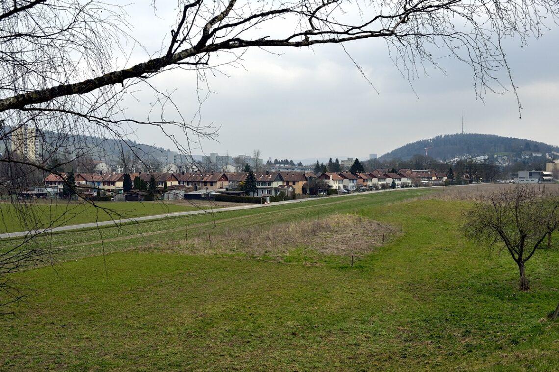 Das Quartier Hardau in Wülflingen vom Hardwald aus gesehen: Im hinteren Teil dieses Quartiers befand sich das Zigeunerhölzli