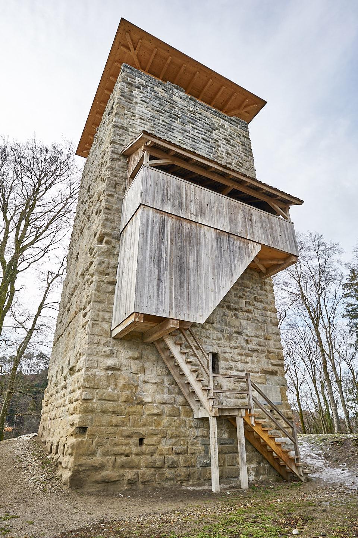 Burgruine Alt-Wülflingen: Ansicht von Osten her